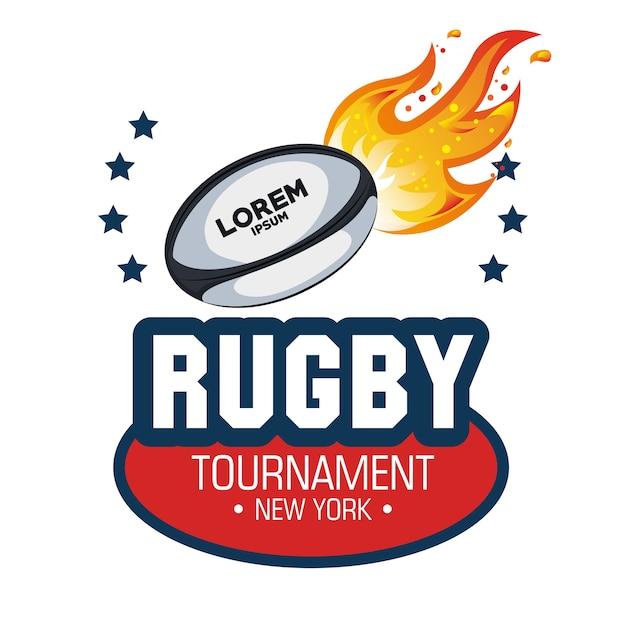 estrelas de chamas de bola de rugby Vetor Premium 3118121732d9a