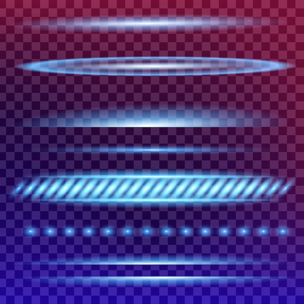 Estrelas de efeito de luz de brilho explode com brilhos. Vetor Premium