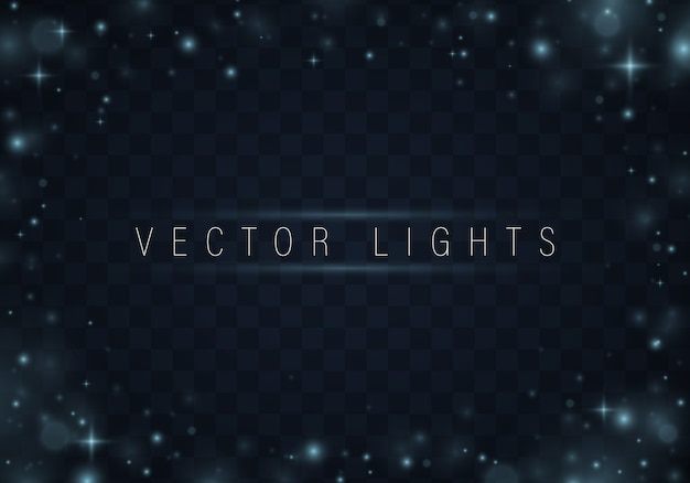 Estrelas de natal padrão abstrato brilhante sobre fundo azul Vetor Premium