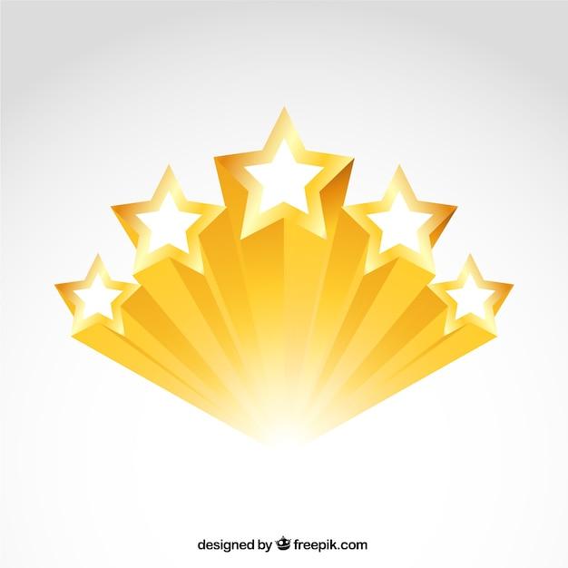 Estrelas douradas brilhantes Vetor grátis