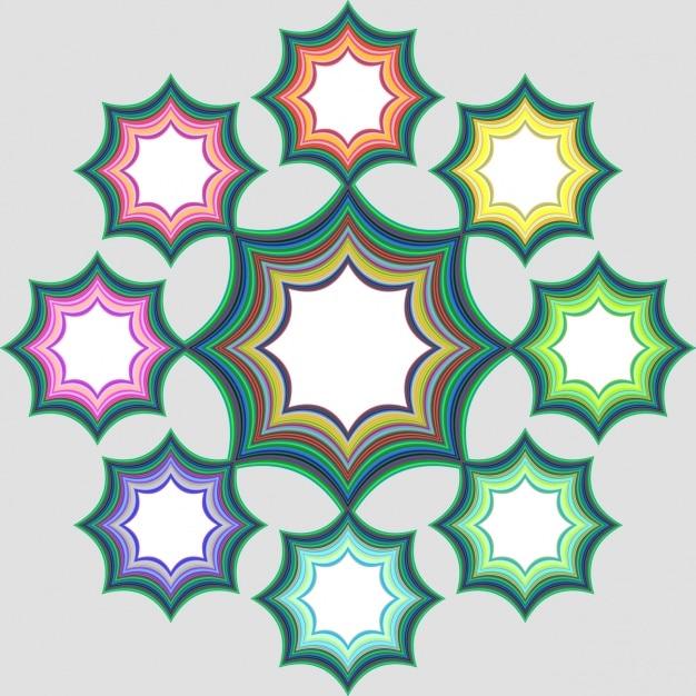 Estrelas quadros coloridos Vetor grátis