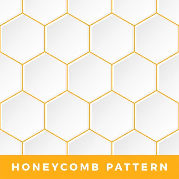 Estrutura de tópicos padrão de favo de mel do hexágono. Vetor Premium