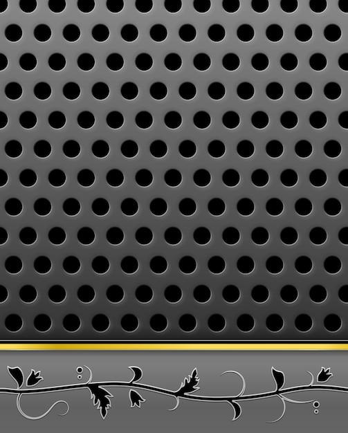 Estrutura metálica perfurada com pórtico caduco Vetor grátis