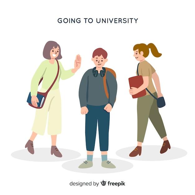Estudante universitário Vetor grátis