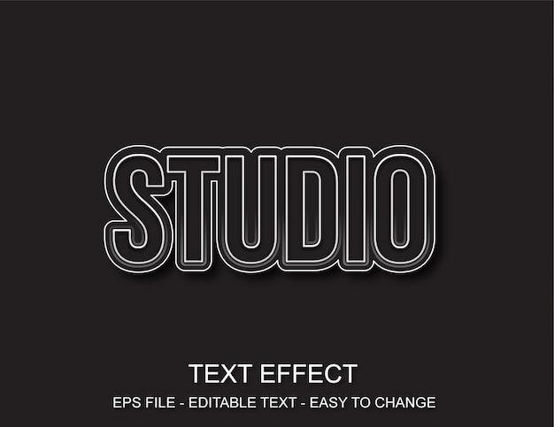 Estúdio de efeitos de texto editável Vetor Premium