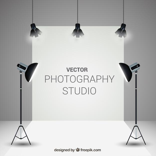 Estúdio de fotografia elegante Vetor grátis