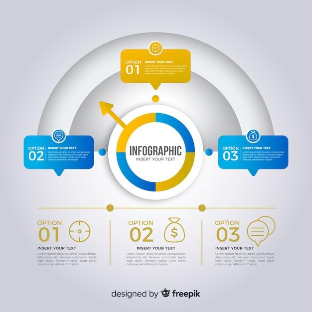 Etapas de infográfico Vetor grátis