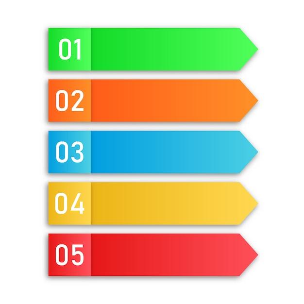 Etapas do processo. elementos infográfico. Vetor Premium