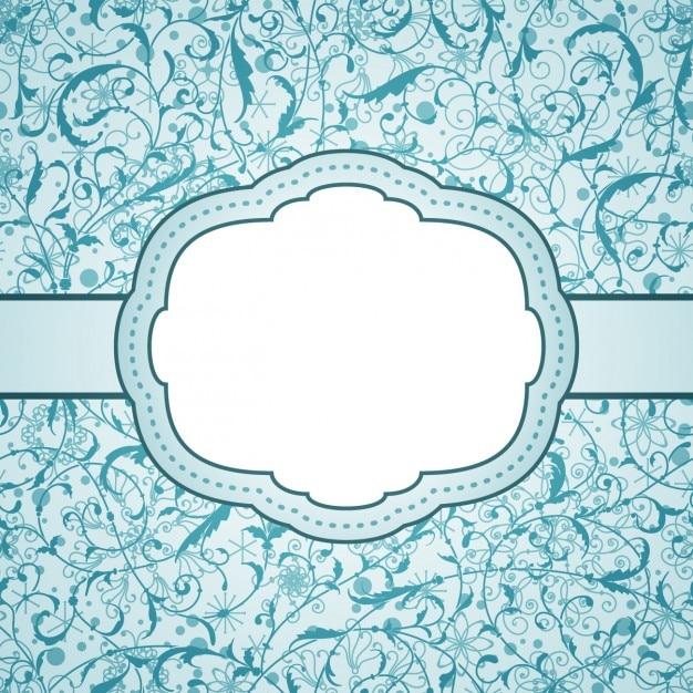 Etiqueta azul do vintage Vetor grátis