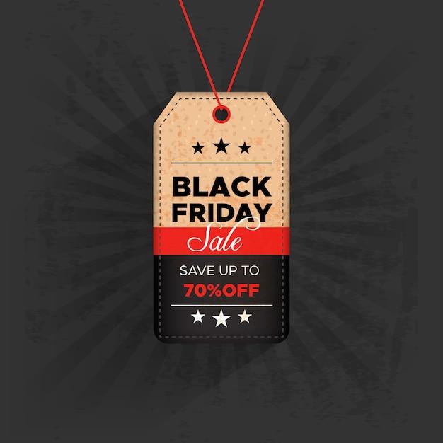 Etiqueta black friday com oferta Vetor grátis