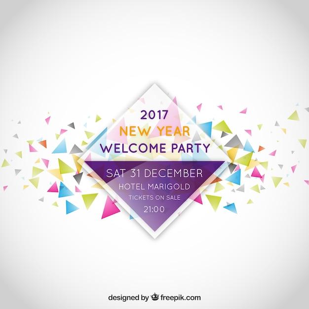 etiqueta convite da festa de ano novo Vetor grátis
