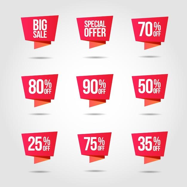 Etiqueta de preço de oferta de desconto Vetor Premium