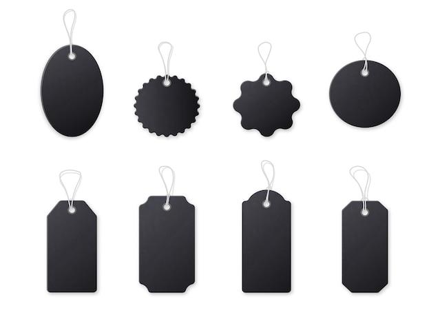 Etiqueta de preço preta Vetor Premium