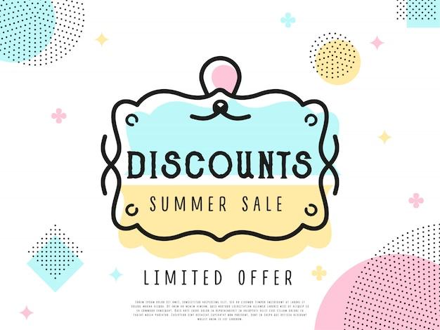 Etiqueta de venda de oferta especial Vetor Premium