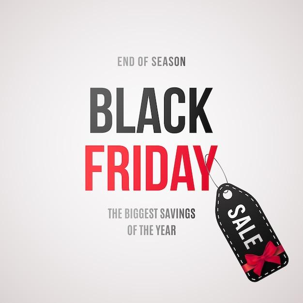 Etiqueta de venda de sexta-feira negra. banner de venda com texto e etiqueta de venda. Vetor Premium