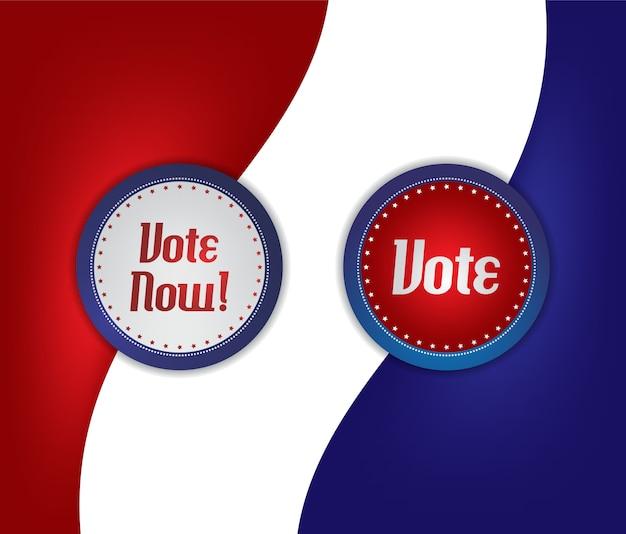 Etiqueta de voto e eleição Vetor Premium