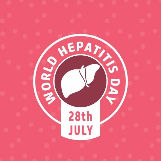 Etiqueta dia mundial da hepatite Vetor grátis
