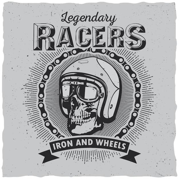 Etiqueta lagendary racers Vetor grátis