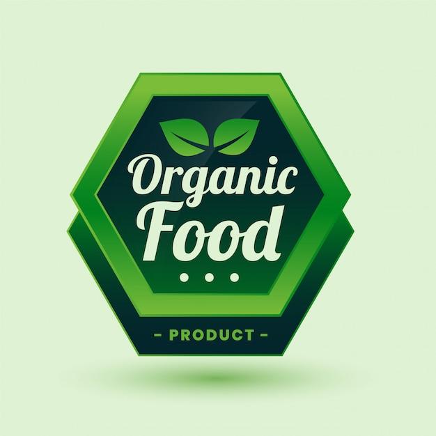 Etiqueta ou rótulo verde de alimentos orgânicos Vetor grátis