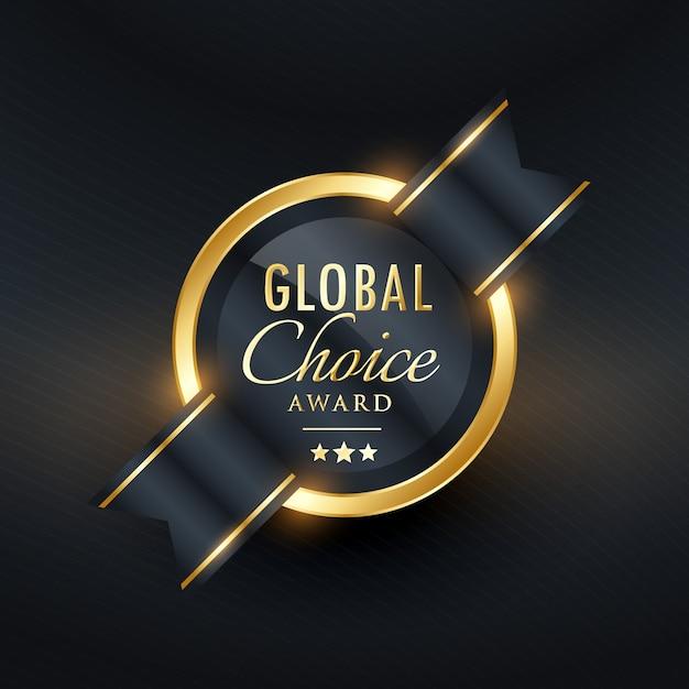 etiqueta prêmio escolha global e design do crachá Vetor grátis