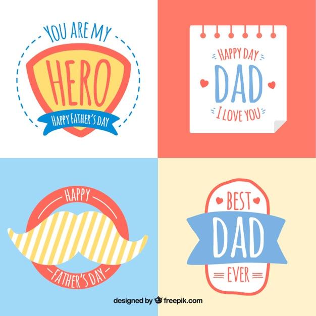 Etiquetas bonito do dia de pai baixar vetores gr tis - I love you daddy download ...