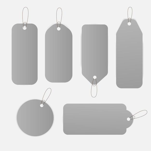 Etiquetas de preço de venda etiqueta design conjunto ilustração Vetor Premium