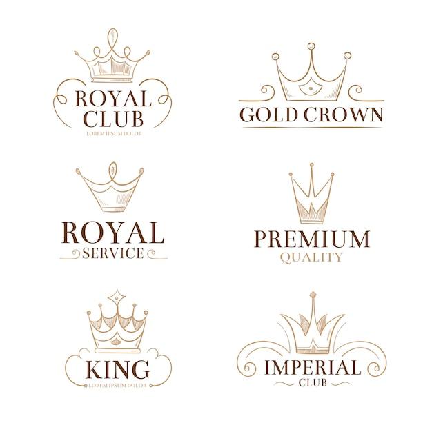 Etiquetas e logotipos do vetor da princesa do vintage Vetor Premium