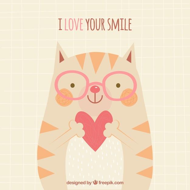 Eu amo seu fundo do sorriso Vetor grátis