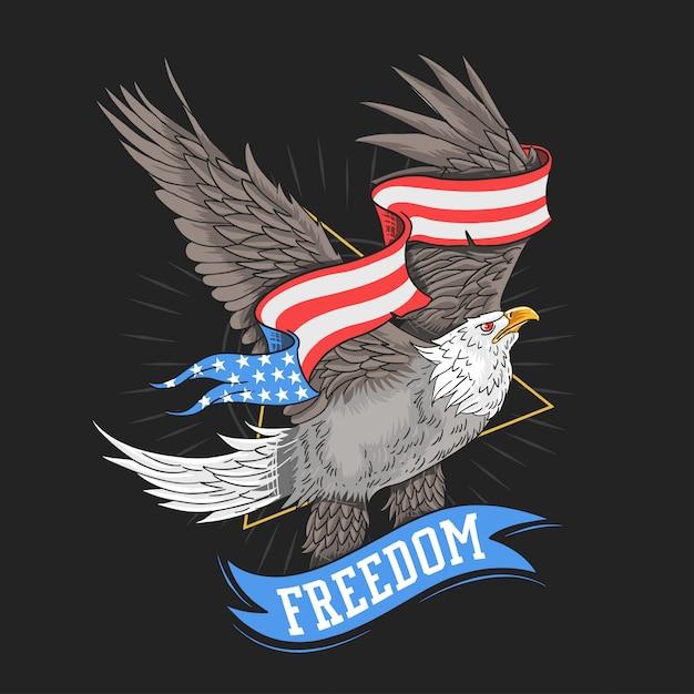 Eua águia liberdade vector Vetor Premium