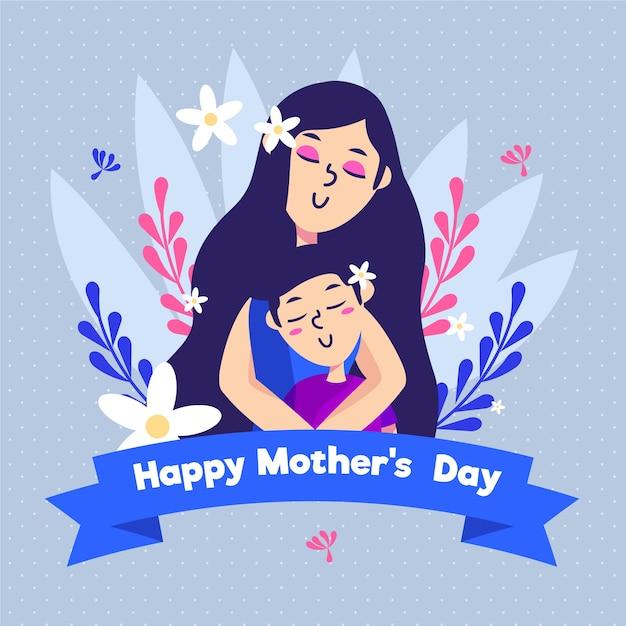 Evento de dia das mães de design plano Vetor grátis