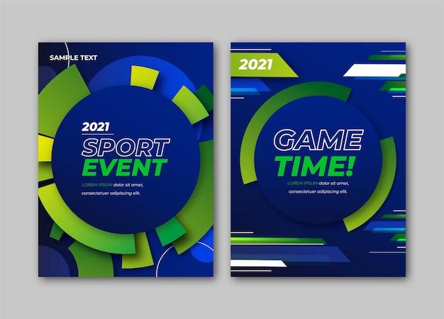 Evento de jogo de esporte 2021 pôster Vetor grátis