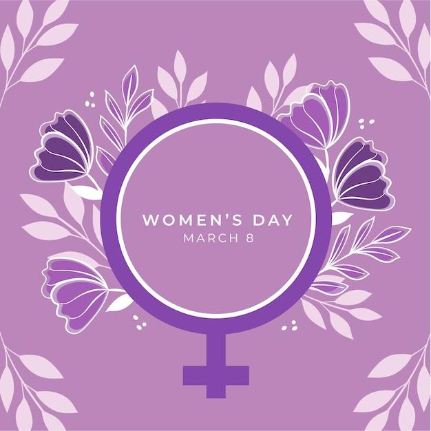 Evento do dia da mulher com estilo floral Vetor grátis