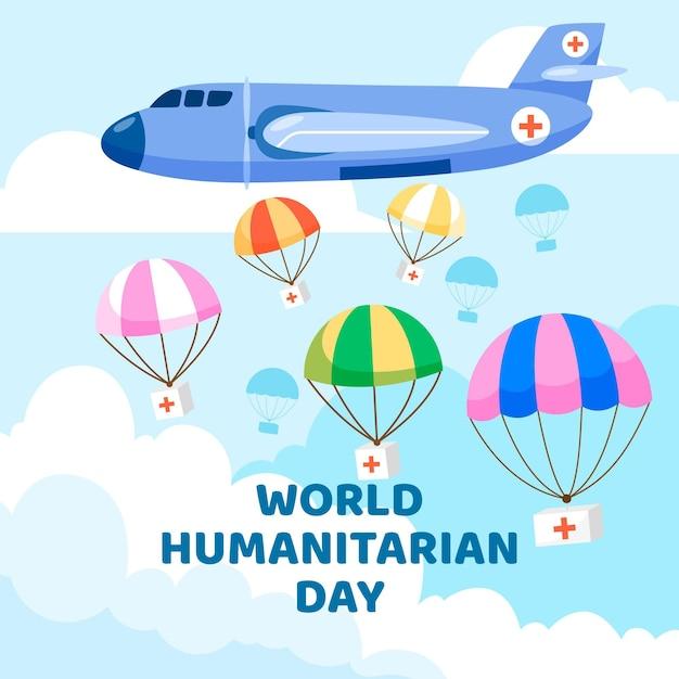 Evento do dia mundial da humanidade Vetor grátis