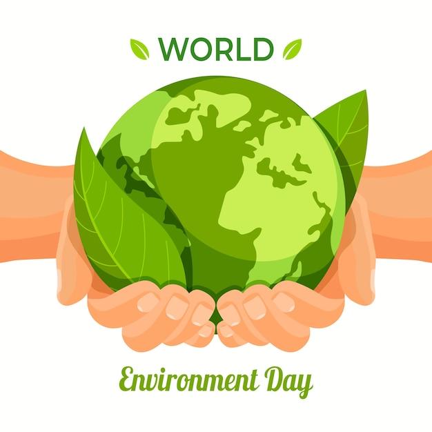 Evento do dia mundial do meio ambiente Vetor Premium