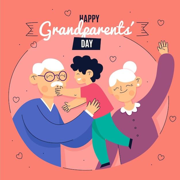 Evento do dia nacional dos avós Vetor grátis