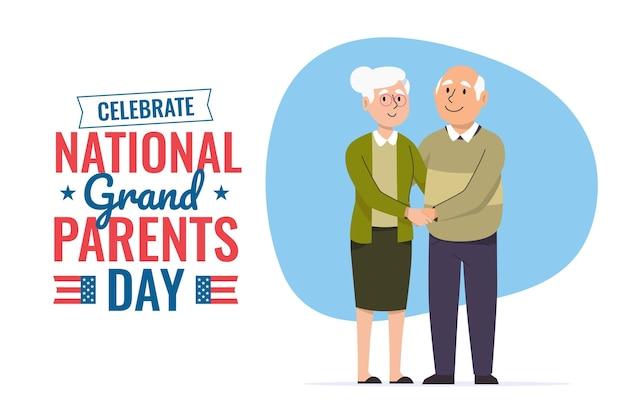 Evento do dia nacional dos avós Vetor Premium