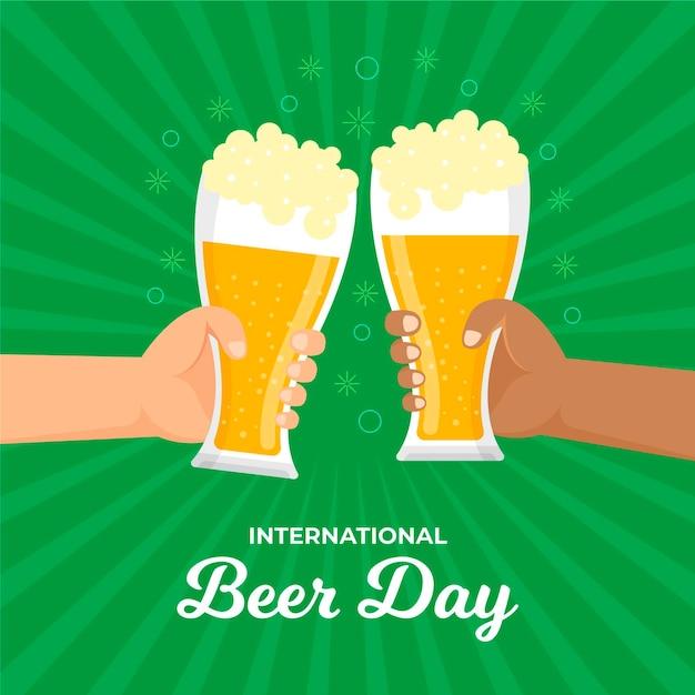 Evento internacional do dia da cerveja Vetor grátis