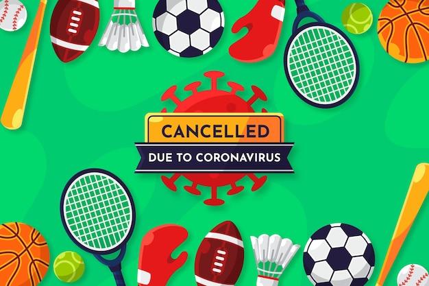 Eventos esportivos cancelados devido a antecedentes de coronavírus Vetor grátis