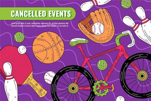 Eventos esportivos cancelados - histórico Vetor grátis