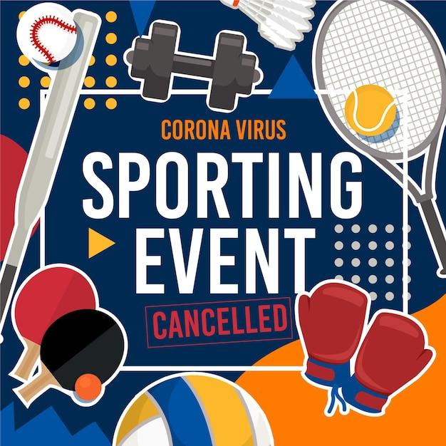 Eventos esportivos cancelados Vetor grátis