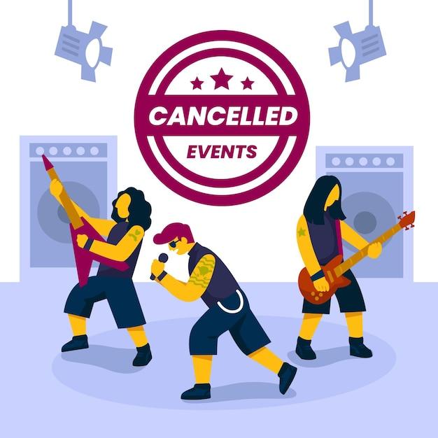 Eventos musicais cancelados Vetor grátis