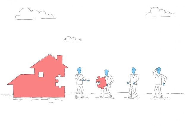 Executivos do conceito da casa team investment together da construção do grupo Vetor Premium