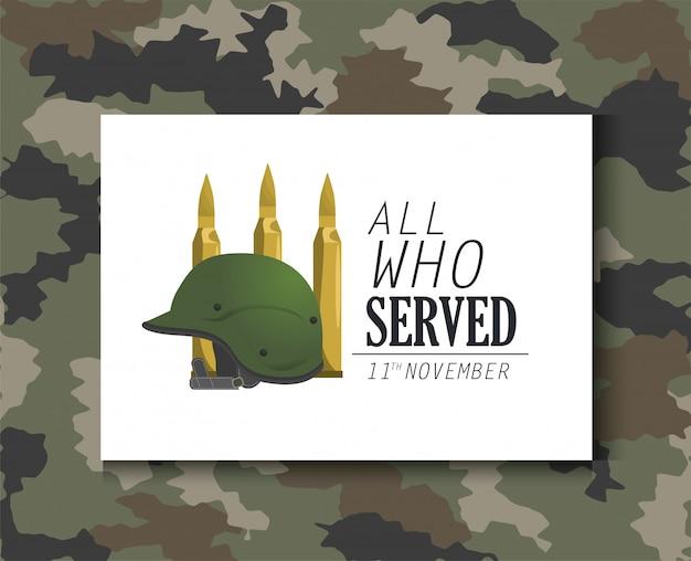 Exército militar de objeto e balas de capacete Vetor Premium