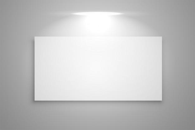 Exibir quadro de galeria com foco de luz de fundo Vetor grátis