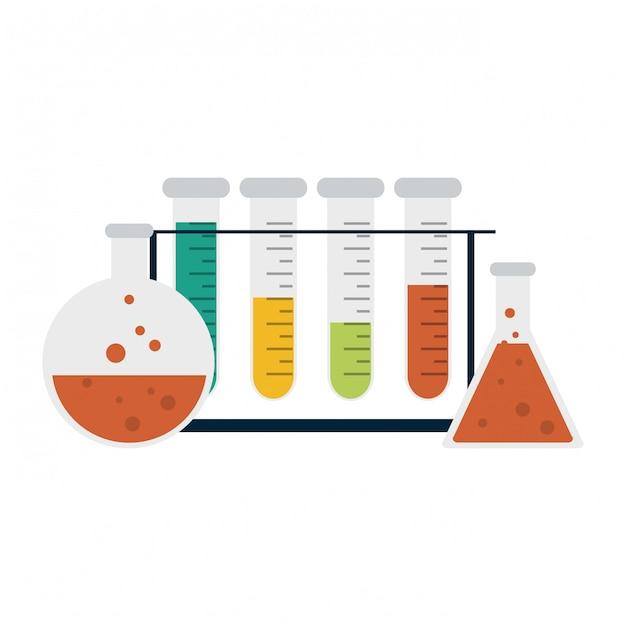 Experimentos científicos e investigação Vetor Premium