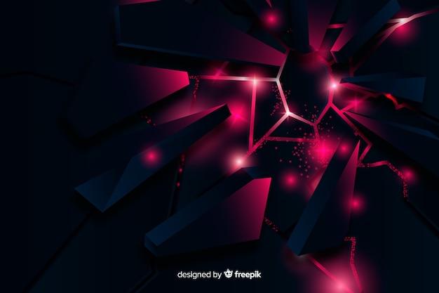 Explosão 3d com luz de fundo Vetor grátis