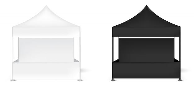 Exposição realística da barraca 3d Vetor Premium