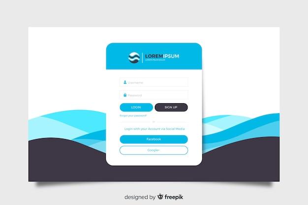 Faça login na página de destino com nome de usuário e senha Vetor grátis
