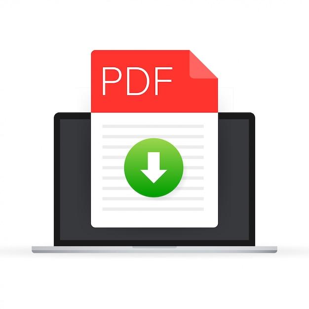 Faça o download do ícone do arquivo pdf. tipo de documento de planilha. Vetor Premium