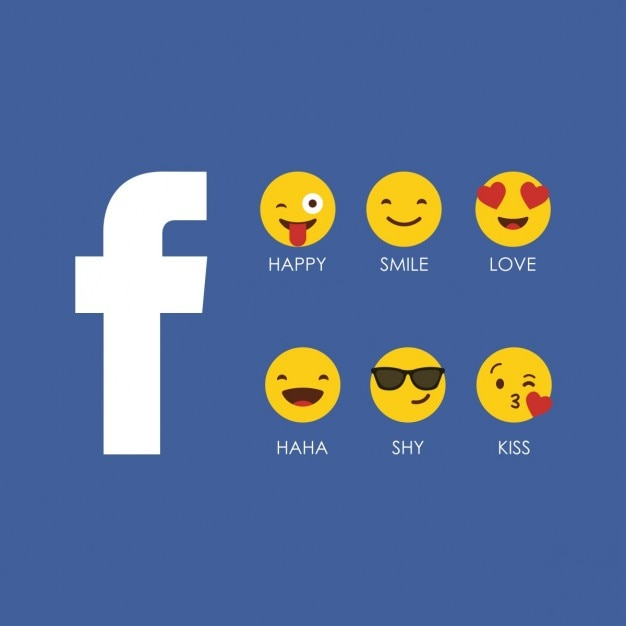 Facebook emoji ícone Vetor grátis